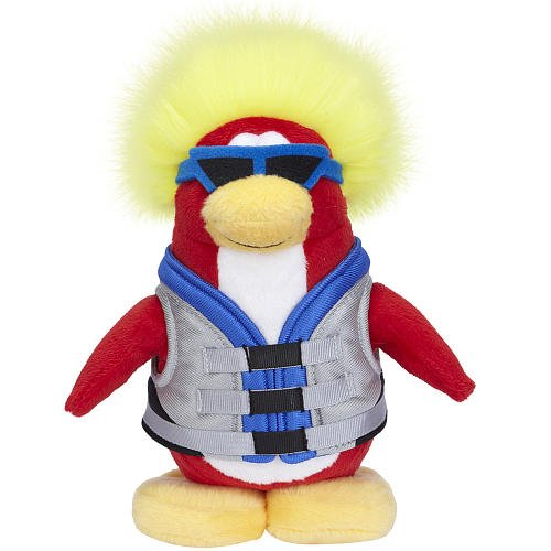 Buy Low Price Jakks Pacific Disney Club Penguin 6.5 Inch Series 6 Plush Figure Water Sport Includes Coin with Code! (B00340JO1O)