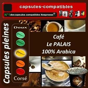 100 capsules compatibles Nespresso® Le Palais