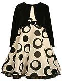 Bonnie Jean Girls Flock Dots Rings Taffeta Dress Set