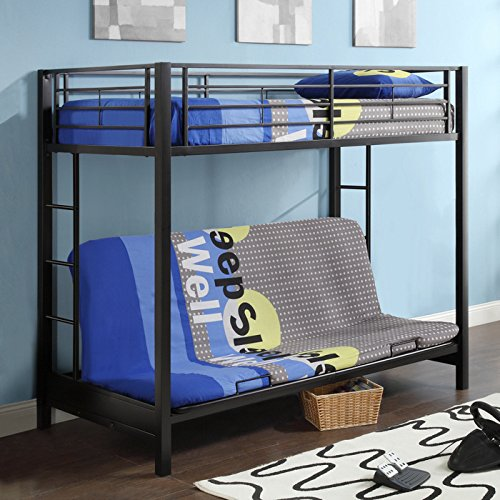Loft and Bunk Beds with Couch Seating Underneath
