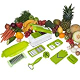 Mother's Day Best Present - Professional and Safe Fruit and Vegetable Chopper Nicer Dicer Plus, 10 pieces