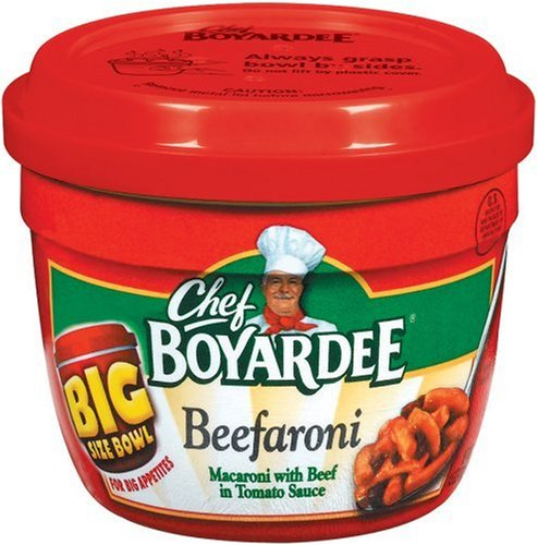 Chef Boyardee Beefaroni, 14.5-Ounce Microwavable Bowls (Pack of 12)