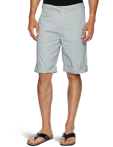 Bellfield MTRS-11193 Men's Shorts White/Blue W34IN