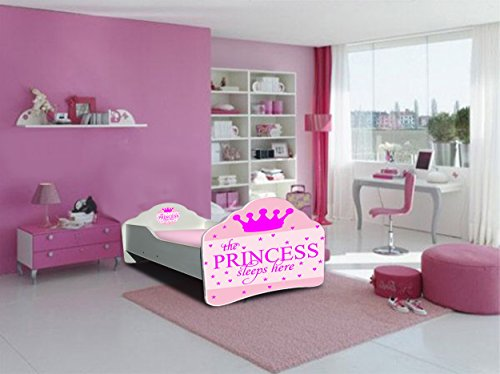 Lit enfant sleeping Princesse sommier+matelas 160 x 80 cm