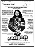 "The original 1973 MANSON documentary, now on DVD and signed by the filmmaker Robert Hendrickson- EXCLUSIVE NEWS: New MANSON Book ""Death to Pigs"" Now for sale on AMAZON"