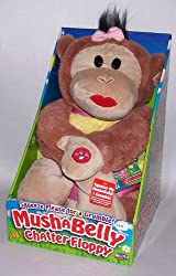 12 Mushabelly Grumble Chapper Talking Floppy Lila Plush Monkey
