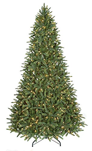 9 Ft Kennedy Artificial Fir Pre Lit Christmas Tree With Warm White Led Lights