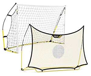 SKLZ Quickster Soccer Combo System with Two Nets and One Frame, 8 x 5-Feet