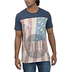 Inego Men's Casual Round Neck T- Shirt (Burgundy )