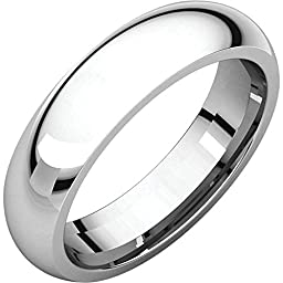 05.00 mm Comfort-Fit Wedding Band Ring in Platinum (Size 8 )