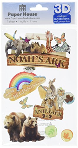 "3D Sticker 4.5""x7"" Sheet-Noah's Ark"