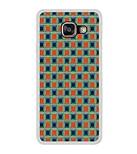 ifasho Colour Full Square Pattern Back Case Cover for Samsung Galaxy A3 (2016)