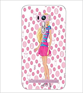 PrintDhaba Beautiful Girl D-1180 Back Case Cover for ASUS ZENFONE SELFIE ZD551KL (Multi-Coloured)