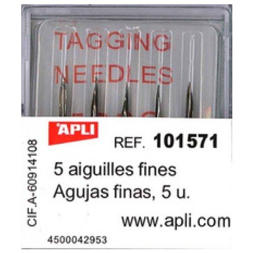 Agipa Etiquettes de prix Pistolet standard attaches textile avec aiguilles Blanc