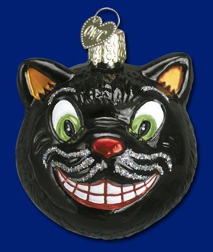 GRINNING CAT Halloween Ornament