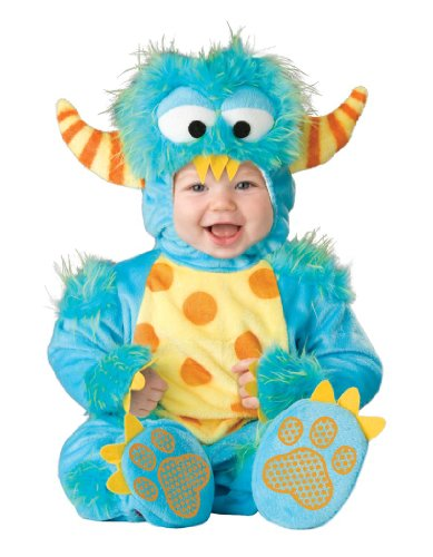 Lil Characters Unisex-baby Infant Monster Costume, Blue/Yellow/Orange, Medium