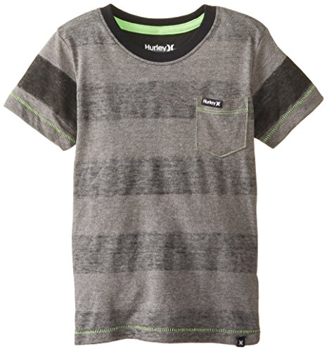 Hurley Little Boys' Swell Tee, Medium Grey Heather, 7 back-596926