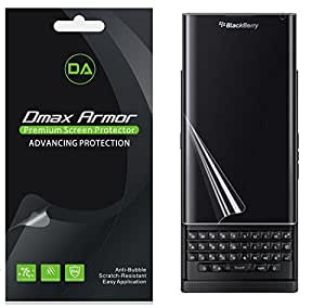 Dmax Armor [2 Pack] BlackBerry Priv Screen Protector, Dmax Armor Full Screen Coverage Anti Bubble High Definition Clear Shield Retail Packaging