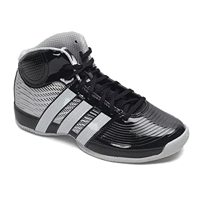 Adidas Commander TD 4 Basketball Shoes - Black/Running White/Metalic Silver (Mens) - 9.5