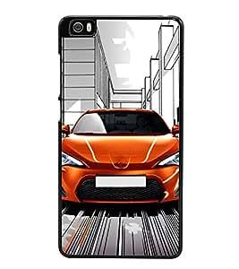 Fuson Premium 2D Back Case Cover Stylish Car With Brown Background Degined For Xiaomi Redmi Mi5::Xiaomi Mi 5