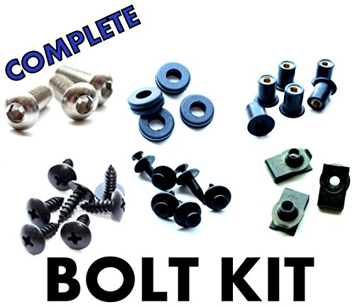 Kawasaki Ninja EX250R 08 09 10 11 Motorcycle Fairing Bolt Kit, Complete Screws and Fasteners kit EX 250 2008 2009 2010 2011 (Ninja 250 Side Fairings compare prices)