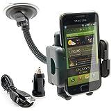 Auto Scheiben Halterung Handy Halter f�r Samsung Galaxy SII S2 i9100 + Ladeger�t