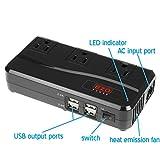 EZOPower 200 Watt International Travel Charger Power Voltage Converter (220V to 110V) Include 3 AC Outlet + 4 USB Port + 4 International Adapter - Black