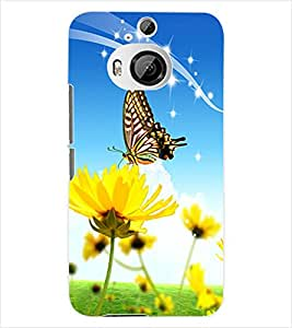 ColourCraft ButterFly Back Case Cover for HTC ONE M9 PLUS