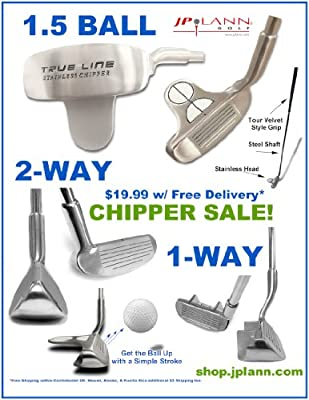 Golf Chipper (2 Styles Available: 1-Way or 2-Way) Ships Free!