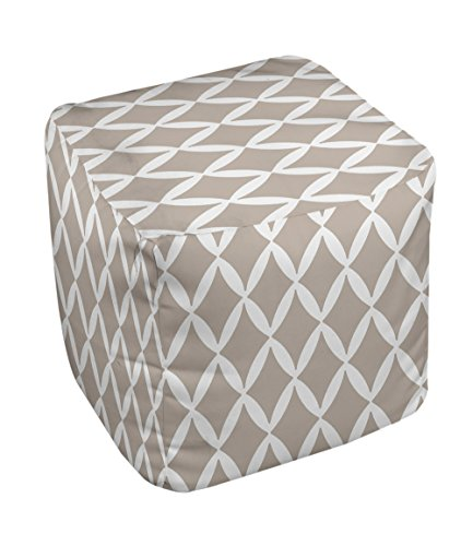 E by design FG-N1A-Flax-13 Geometric Pouf