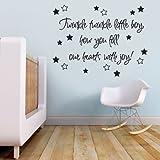 Twinkle Twinkle Little Boy Baby Nursery Children's Bedroom Quote Wall Sticker Wall Decal Wall Art Vinyl Wall Mural - Regular Size