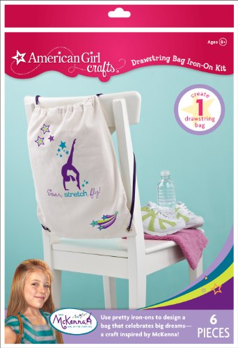 American Girl Crafts Drawstring Bag Iron-on Kit, McKenna Girl of The Year 2012