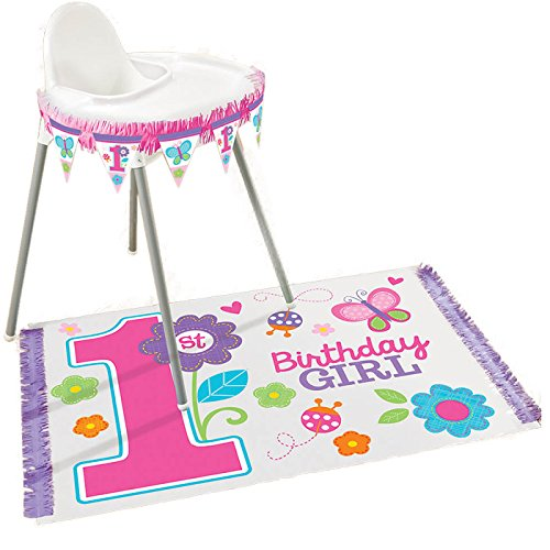 Sweet 1st Birthday Girl High Chair Decorating Kit Shopswell