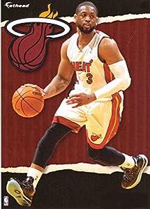 "Miami Heat Dwayne Wade NBA Teammate Fathead 12""X17"""