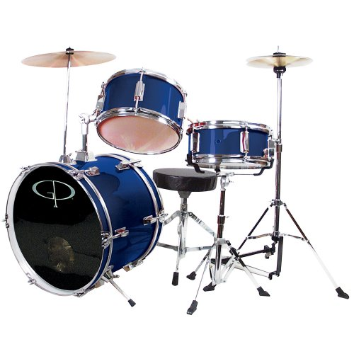 gp-percussion-gp50bl-complete-junior-drum-set-blue-3-piece-set