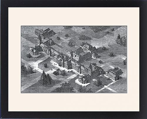 Framed Print Of Carmarthen County Lunatic Asylum, South Wales