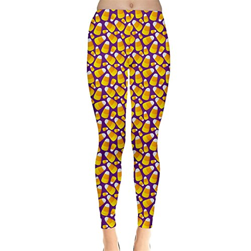 Jogja Candy Corn Seamless Pattern for Halloween Leggings Purple (Candy Corn Leggings compare prices)