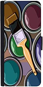Snoogg Oil Painter 2452 Designer Protective Flip Case Cover For Sony Xperia Z