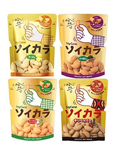 大塚製薬 ソイカラ アソートセット 4種(チーズ味、のり納豆味、オリーブオイルガーリック味、チリペッパー味)×各6袋