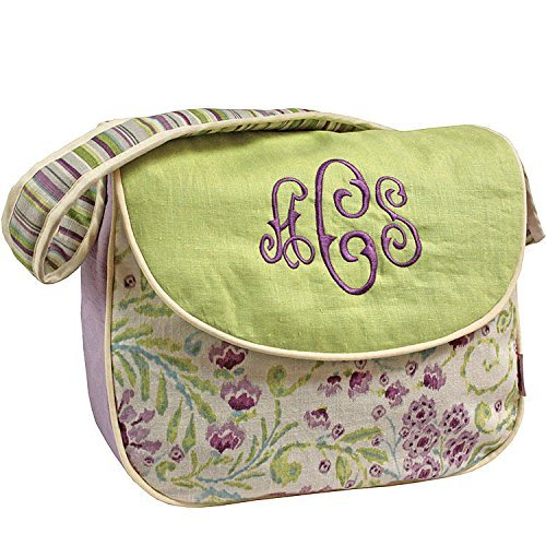 Hoohobbers Messenger Diaper Bag, Lilac Garden