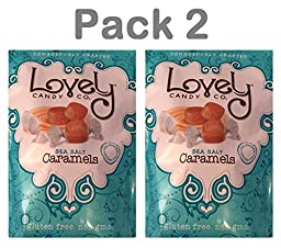 Lovely Candy Sea Salt Caramels Pack 2 Bags, 22 oz/ 737grams each - Gluten Free, Non GMO