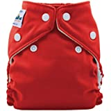 FuzziBunz® Perfect Size Pocket Nappy in Watermelon, with microfibre insert, popper fastening, x-small (newborn: 4-12lbs)