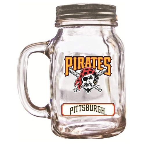 MLB Pittsburgh Pirates Duckhouse 20 Ounce Mason Jar