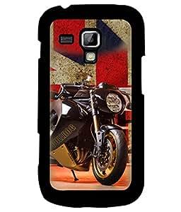 Fuson Premium Racing Bike Metal Printed with Hard Plastic Back Case Cover for Samsung Galaxy S3 Mini i8190