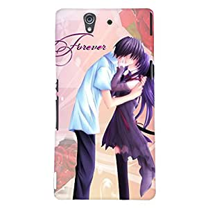 Fuson Love Couple Back Case Cover for SONY XPERIA Z - D3845