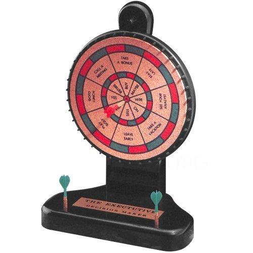 10.5 Inch 8 Option Decision Maker Cork Board Game with 6 Mini Darts