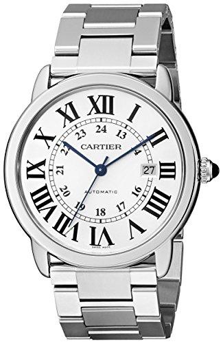 Cartier Men's Ronde Solo De Cartier 42mm Steel Bracelet & Case Automatic Silver-Tone Dial Watch W6701011