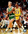Boston Celtics Larry Bird Magic Johnson Los Angeles Lakers 8x10 Licensed Color Photo