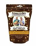 Newman's Own Organics Dog Treats, Medium Size, Peanut Butter, 10-Ounce Bags (Pack of 6)