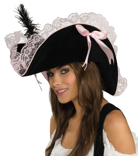 Sexy Pink Lace Pirate Hat